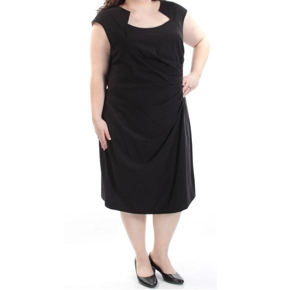 Calvin Klein Dresses Womens Black Dress Cap Sleeve Sz 22w Poshmark